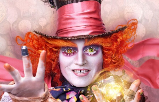 Mad Hatter Alice Looking Glass