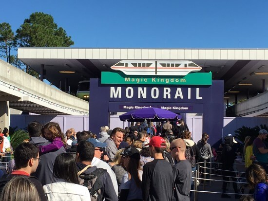 Busy Monorail Station