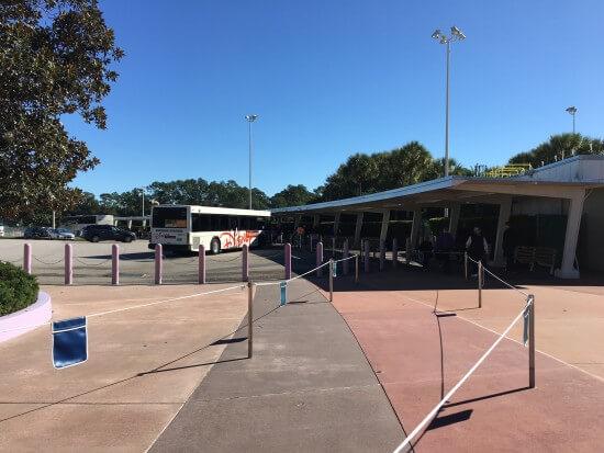 Empty Bus Queue