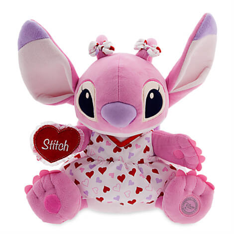 new valentine's day stitch and angel plush toys from disney store, Ideas