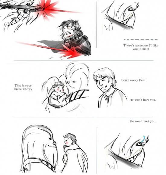 Chewie Kylo Ren 2