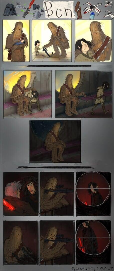 Chewie Kylo Ren comic strip