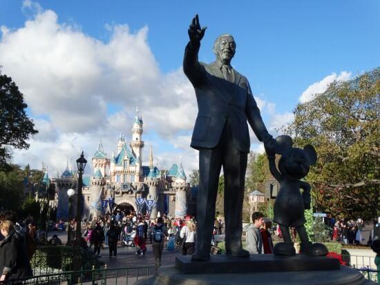 Disneyland Sleeping Beauty Castle Walt Mickey Statue