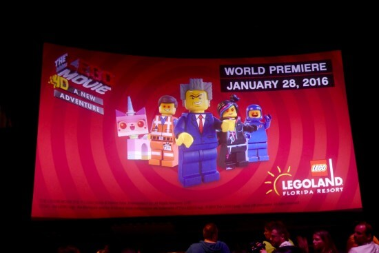 Legoland Florida Lego Movie premiere