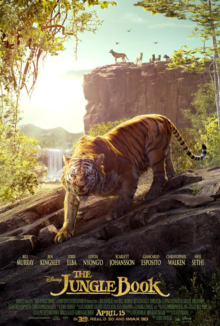 disney reveals the jungle book triptych movie poster inside the magic. Black Bedroom Furniture Sets. Home Design Ideas