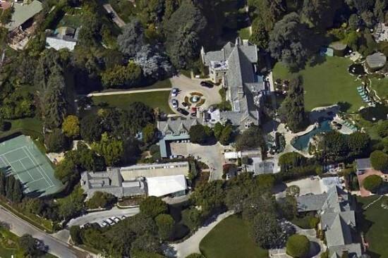 playboy mansion google earth