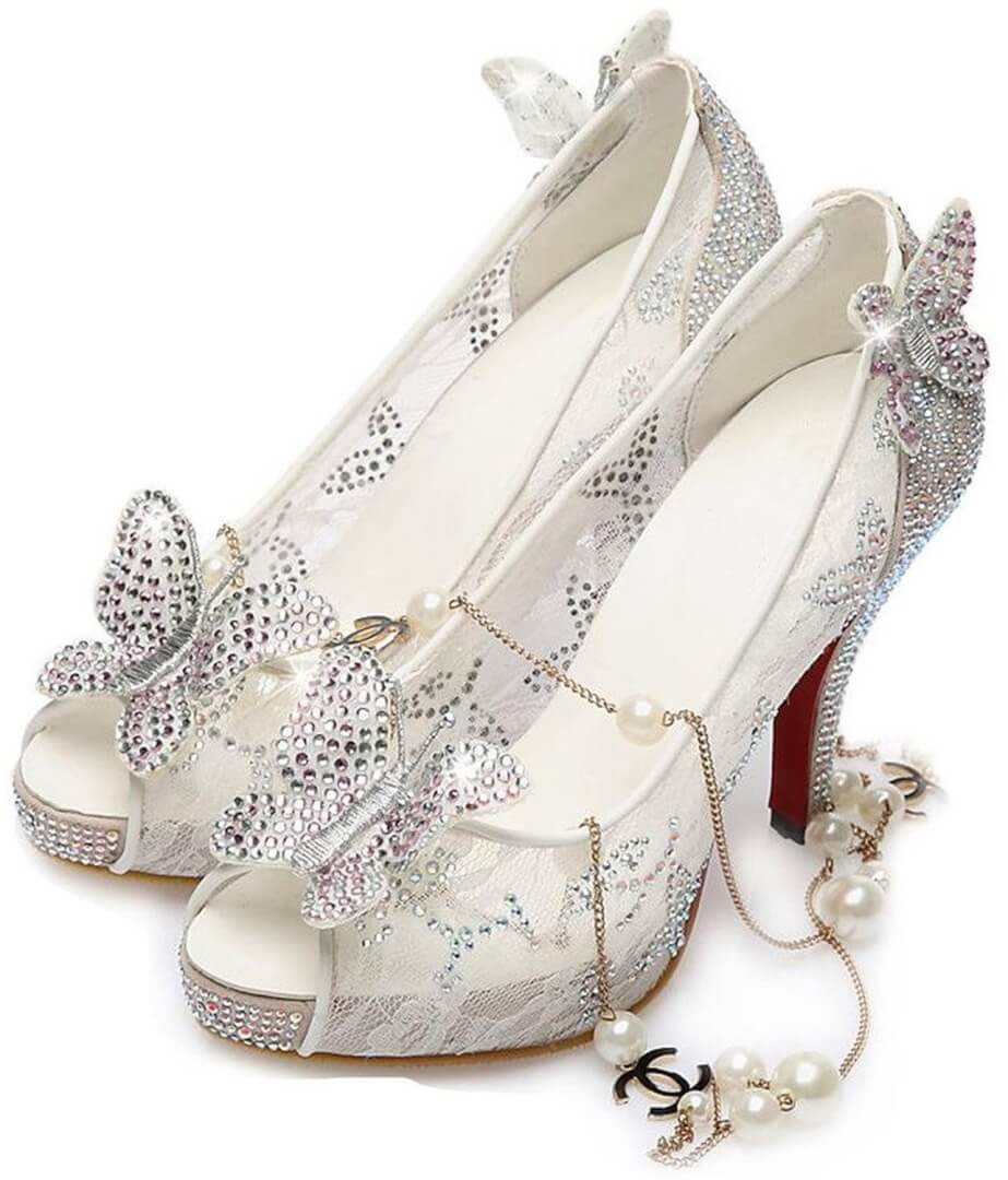 cinderella inspired shoes by littleboutique