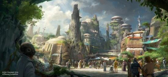 Star Wars Land Disneyland Walt Disney World