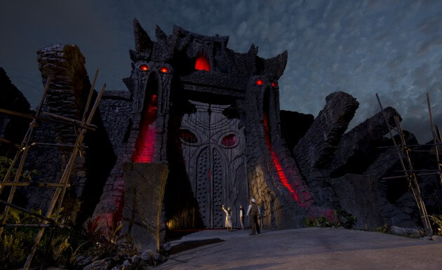 Skull Island Reign of Kong Great Wall Night time shot