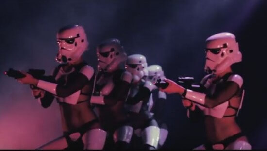 the Empire Strips Back troopers