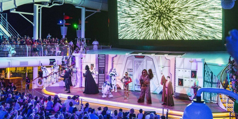 Summon the Force deck party Star Wars Disney Cruise Line