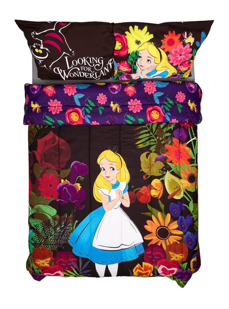 New Disney Alice In Wonderland Full Queen Comforter