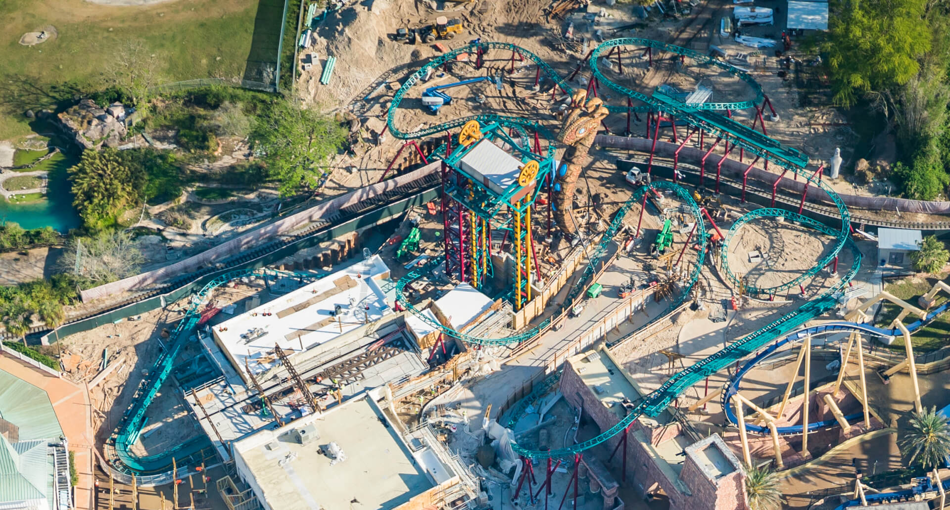 Final Track Piece Installed On Cobra 39 S Curse Roller Coaster At Busch Gardens Tampa Inside The