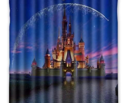 Disney Castle Waterproof Fabric Shower Curtain Inside
