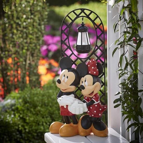 Disney Mickey Amp Minnie Garden Statue From Kmart Inside