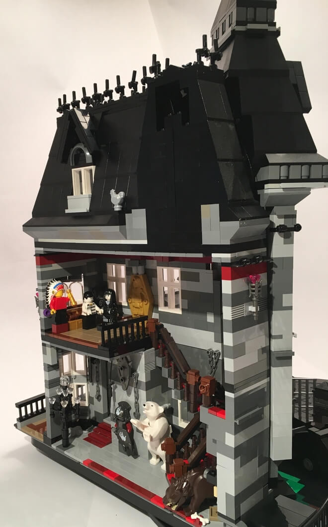 The Addams Family Mansion In Glorious Lego Detail