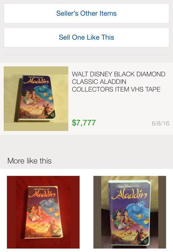 Hold on tight to your classic Disney VHS collection It could be worth as muc