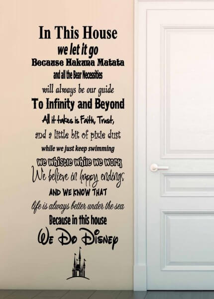 In This House We Do Disney Vinyl Wall Decal Sticker
