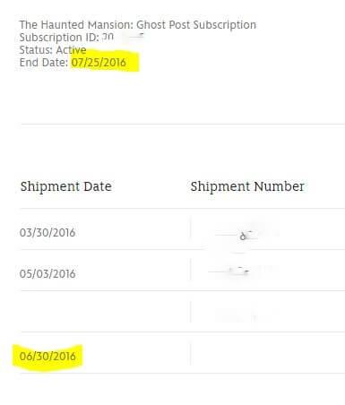extra shipment.