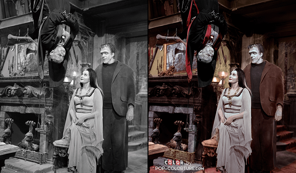 Now In Un Living Color Addams Family And Munsters In