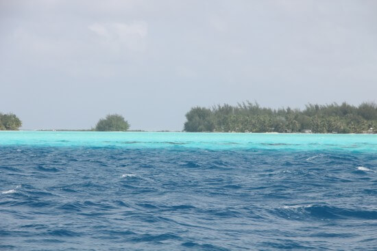 Research photo taken to reference the incredible colors of the ocean in the Pacific Islands.
