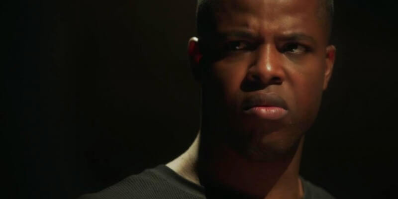 Winston Duke looking all angry and brooding