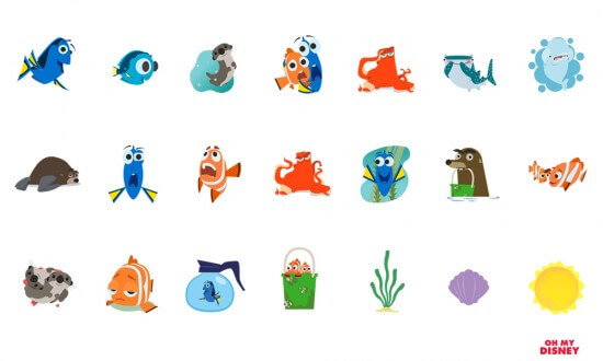 Dory iOS Stickers