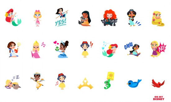 Princess iOS Stickers