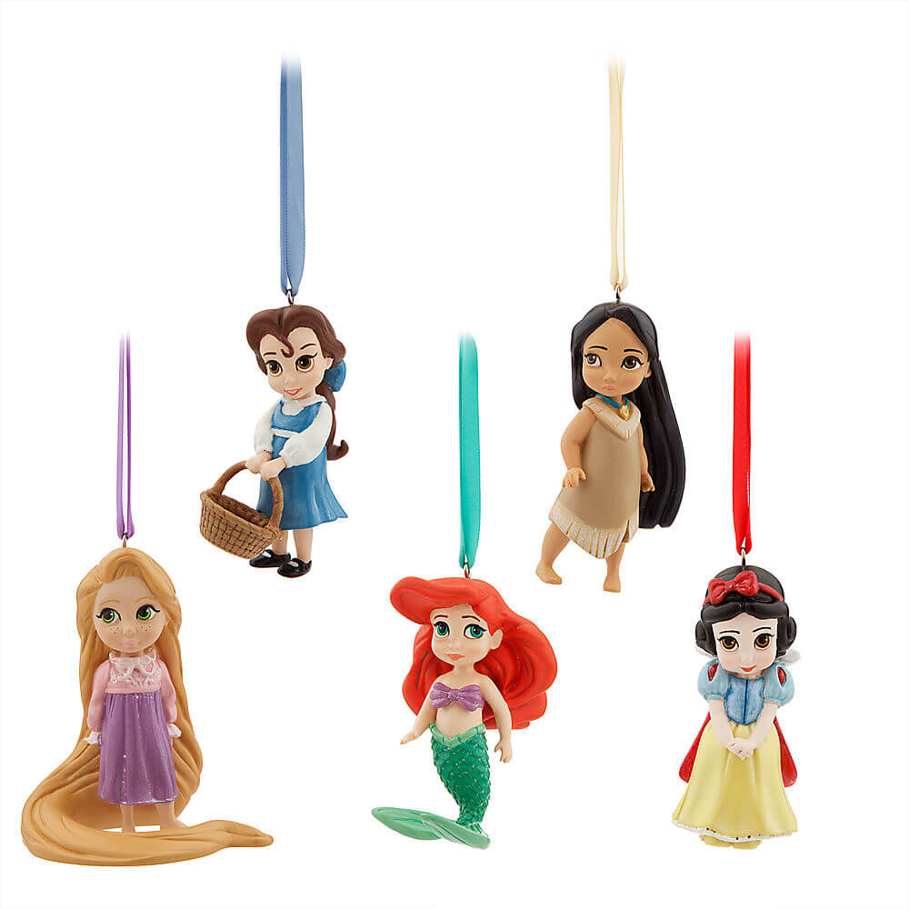 Disney animators 39 collection sketchbook ornament set for Ariel christmas decoration