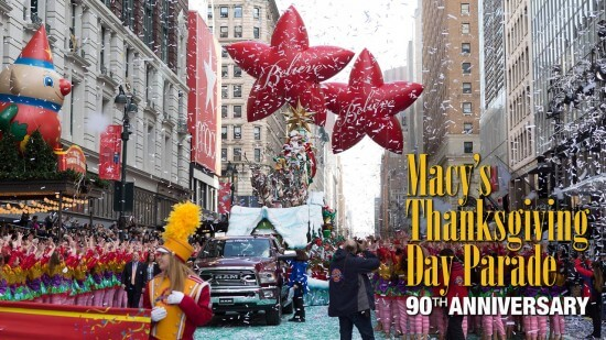 Macy's 90th Thanksgiving Day Parade (image: NBC)
