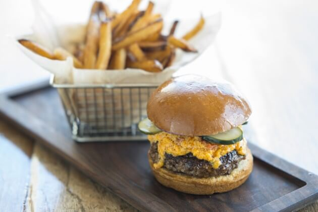 Burger with Pimiento Cheese