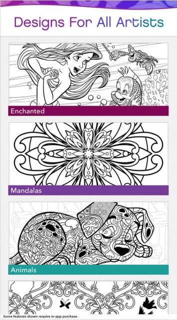 Disney Releases New Adult Coloring Book App Color By Disney