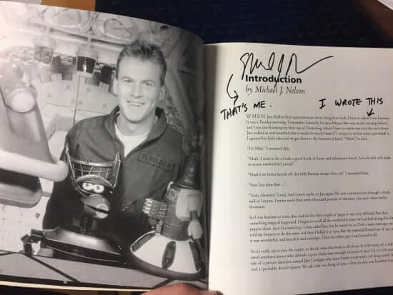 "My copy of the ""Amazing Colossal Episode Guide"", signed by second host Mike Nelson"