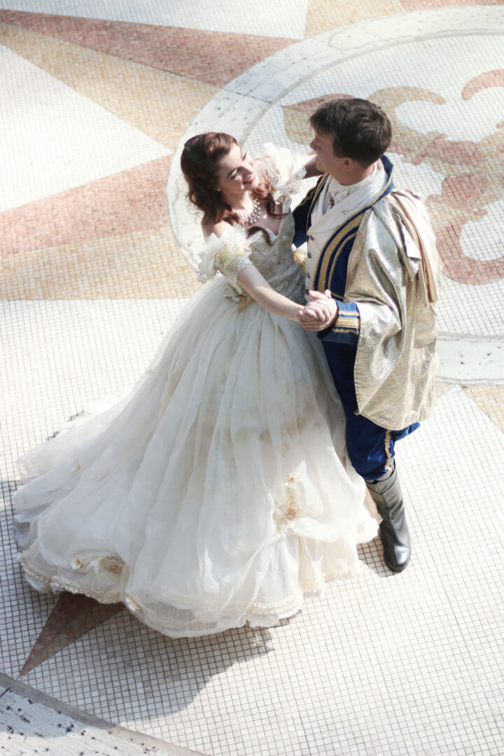 Davids Design For The Gown Was Based On A Wedding Look Belle Likewise Princes Suit Inspired By Same Nuptial Concept
