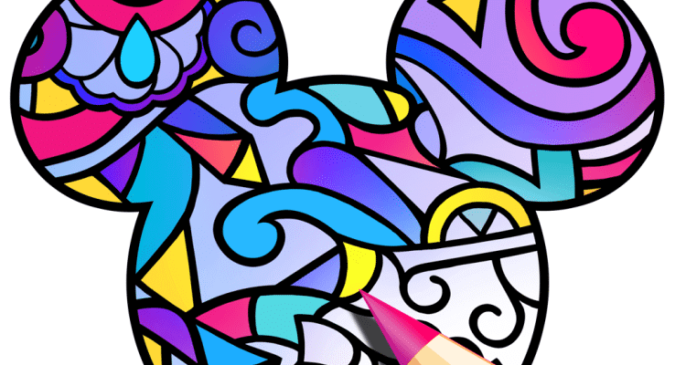 disney releases new adult coloring book app color by disney - How To Make A Coloring Book App