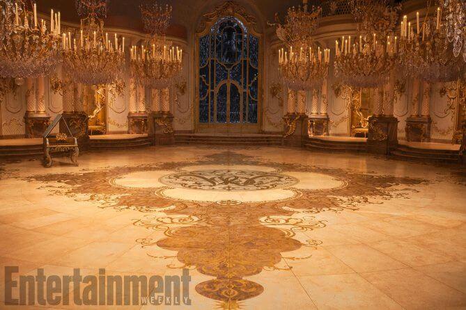 Beauty and the beast ballroom hides disney easter egg for Belle flooring