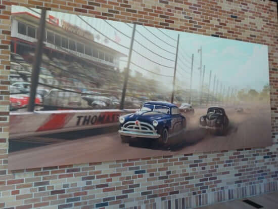 """Artwork from the upcoming """"Cars 3""""."""
