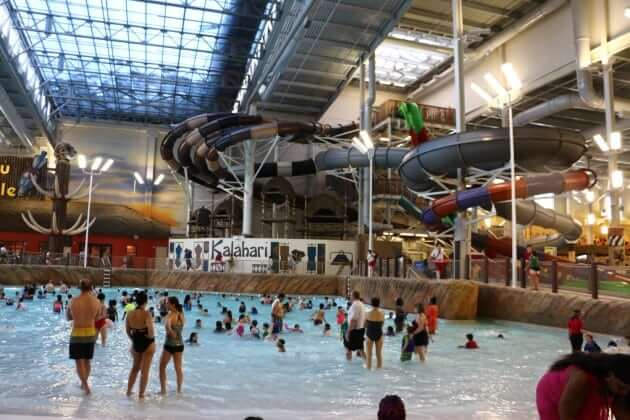 Kalahari Resorts Poconos massive indoor water park offers