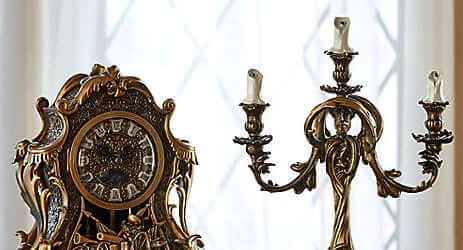 Lumiere Candelabra Cogsworth Clock From Live Action