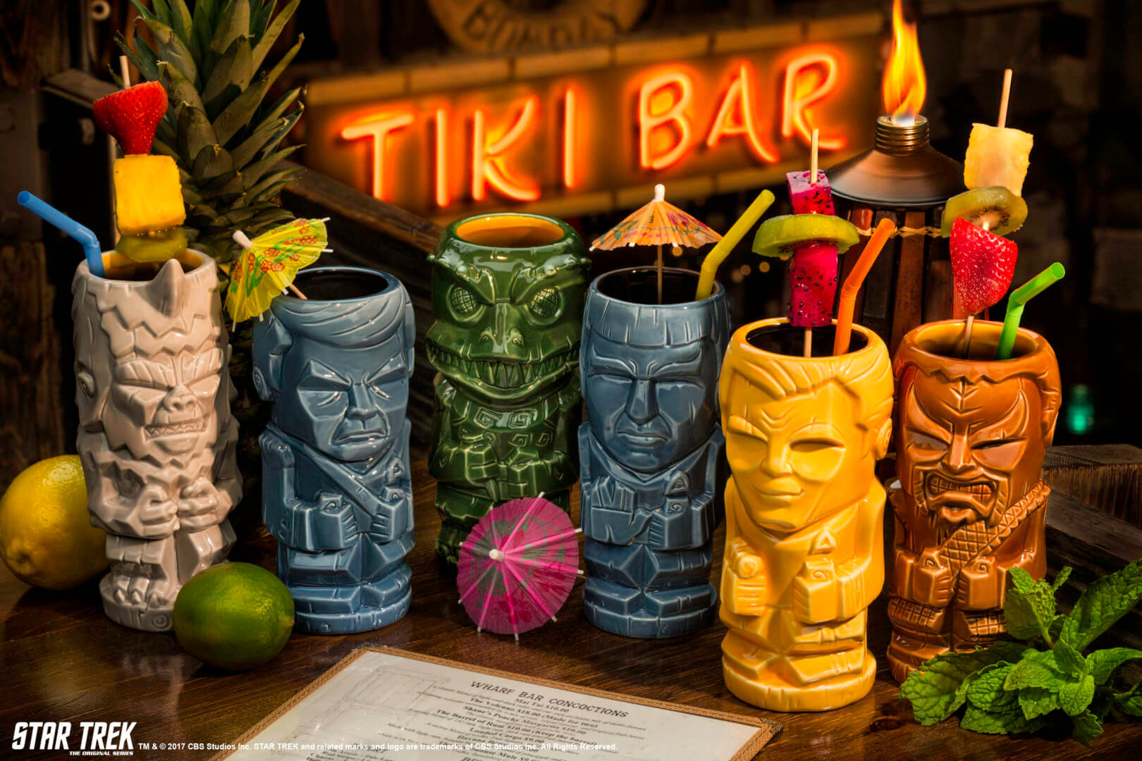 Geeki Tiki Beams Down New Trek Tiki Glasses This Summer