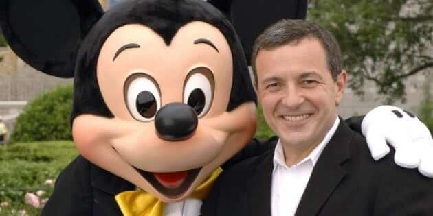 Mickey with Disney CEO