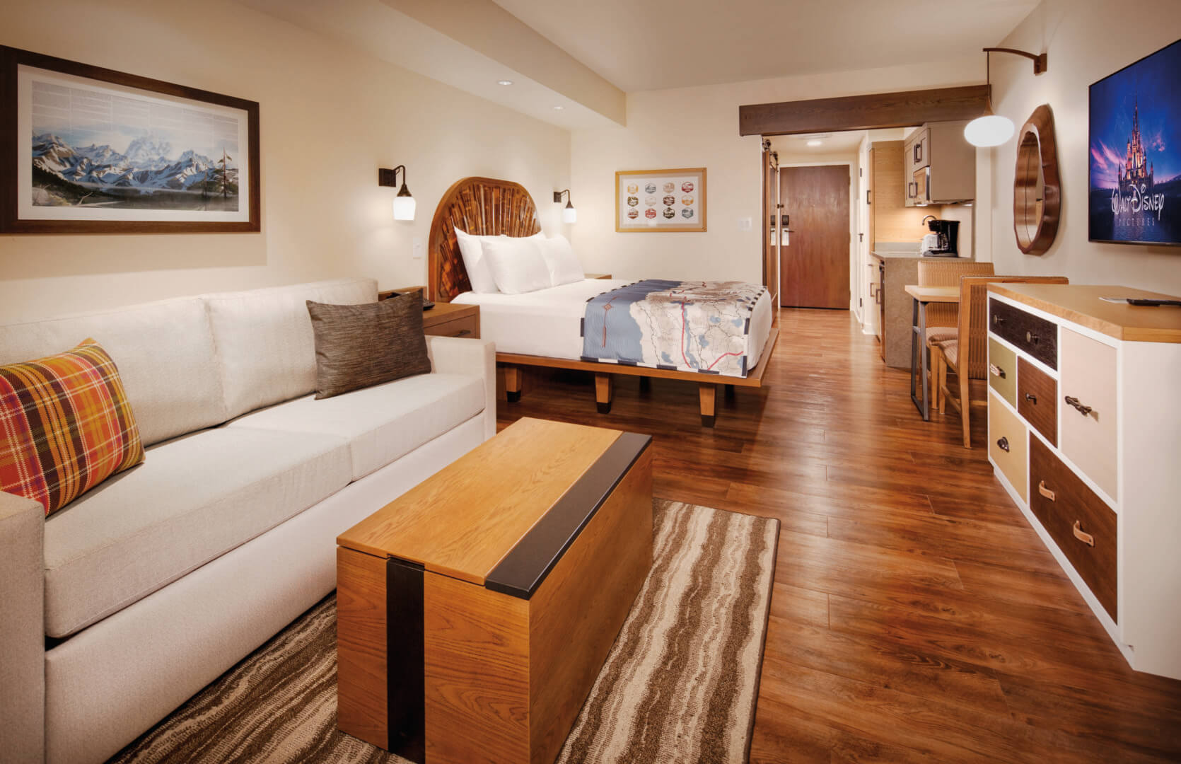 Preview walt disney world 39 s new copper creek villas for Cabins at wilderness lodge