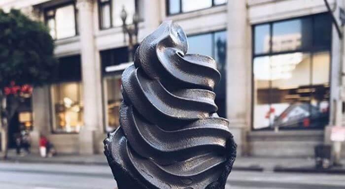 Black ice cream going viral