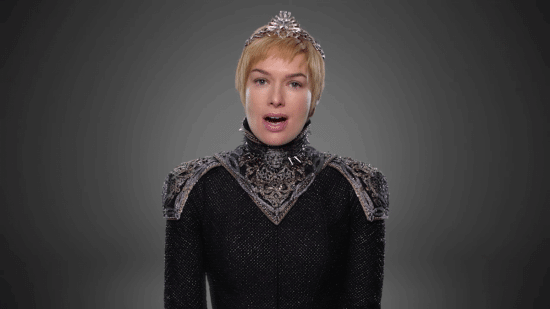 further-south-queen-cersei-is-striking-in-her-black-gown-with-embroidered-silver-shoulder-pads