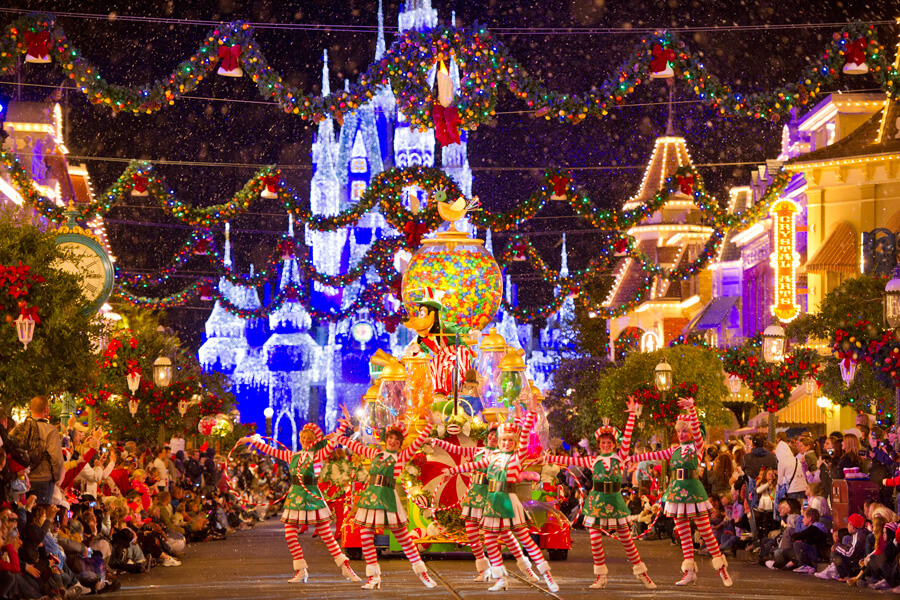 christmas in disney world is not to be missed and you can get festive on the following dates