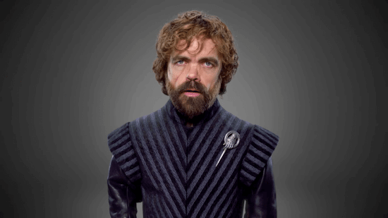 tyrion-is-looking-fabulous-as-the-hand-of-the-queen-in-a-striped-top-with-leather-sleeves-and-that-striking-silver-pin-that-marks-him-as-the-hand