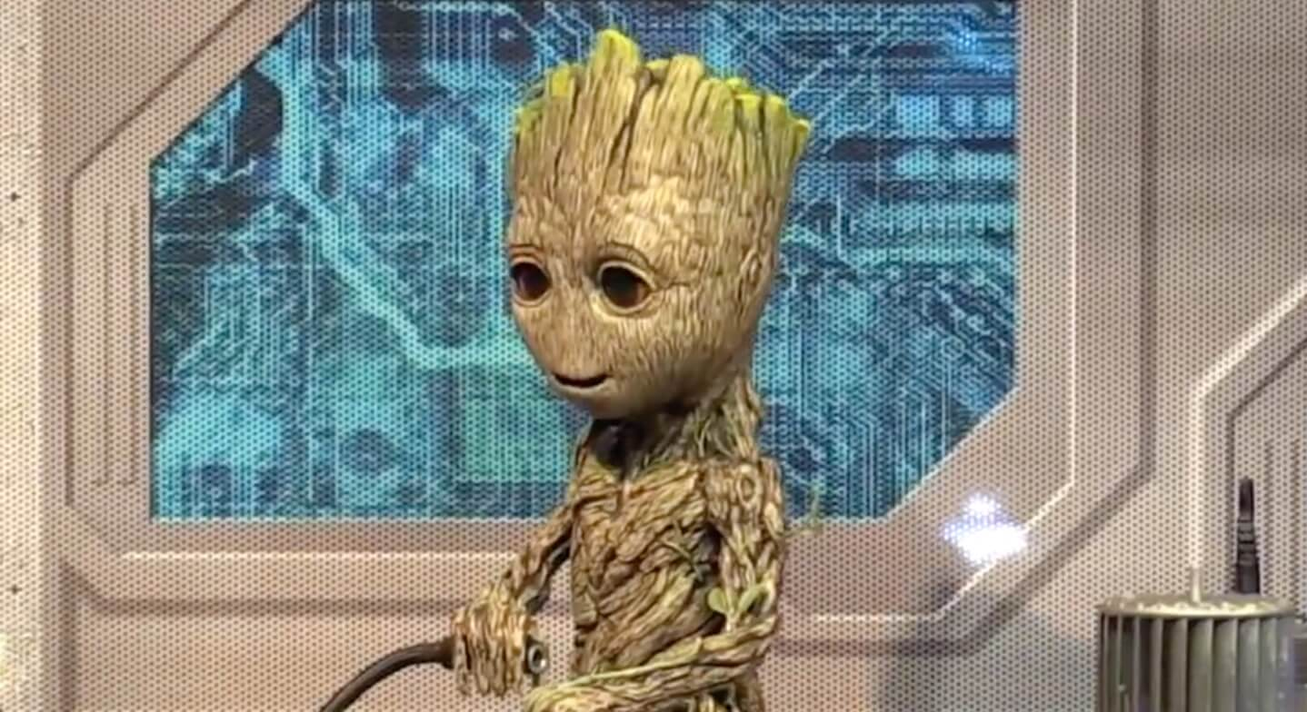Video Baby Groot Is Possibly The Cutest Walt Disney World Meet And Greet Ever Now