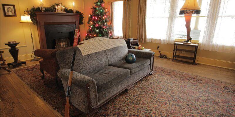 Christmas story house living room