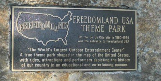 Freedomland plaque