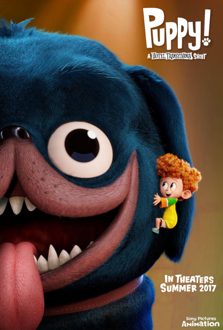 """Top PHOTO: First poster for 'Hotel Transylvania' short """"Puppy!"""" shows  TA03"""